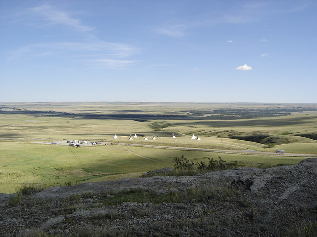 View Of The Canadian Plains Seen From Head Smashed In