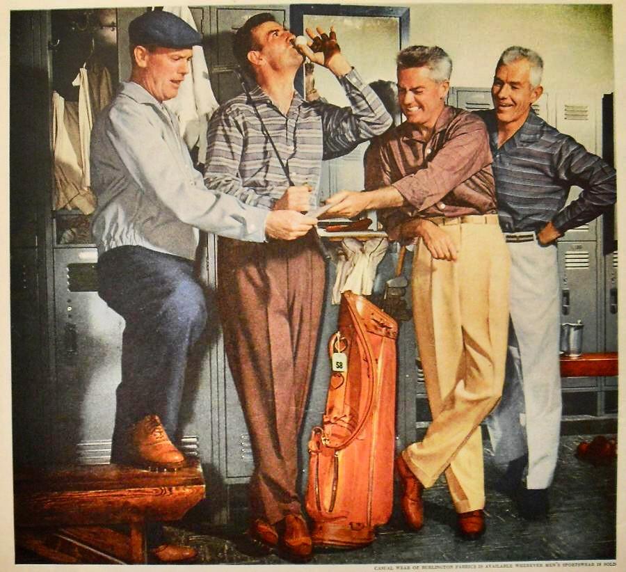 1940s BURLINGTON FABRICS Menswear Vintage Fashion Photogra