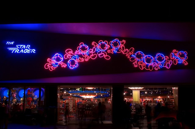 The Star Trader This Neon Sign Out At Disneyland Is