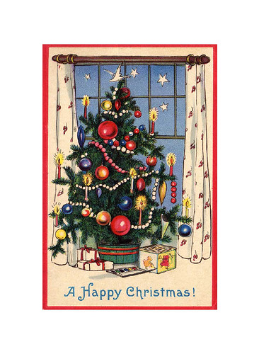 Old Fashioned Christmas Tree C4 Image Used With