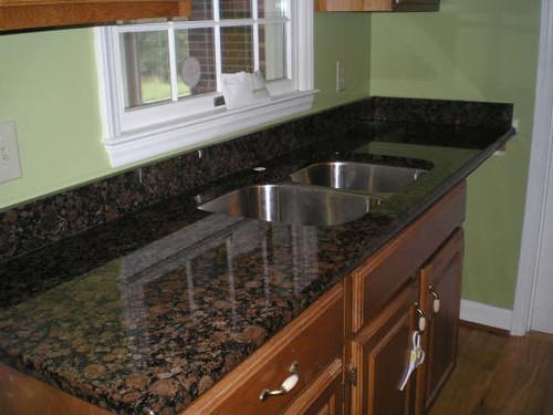 Dark Baltic Brown Granite Countertop With Sink