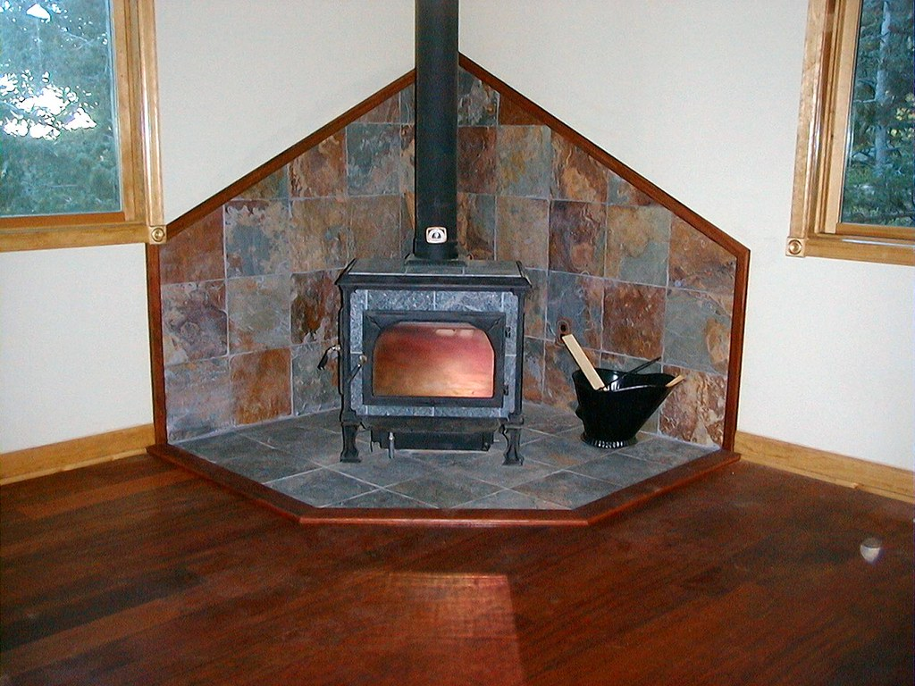 Non Combustible Spacers : Wood stove wall protection