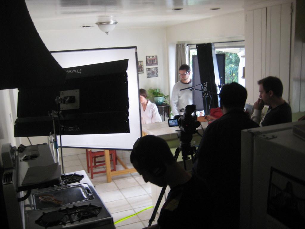 Film Set In The Dining Room Scene Being Filmed In The