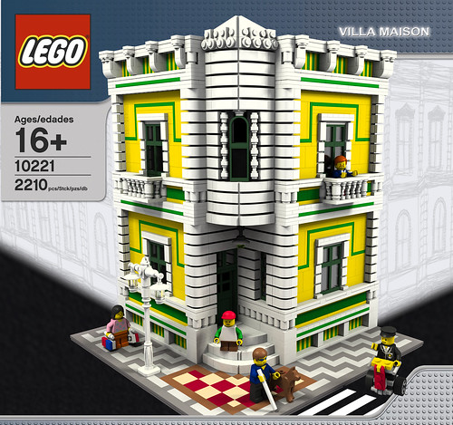 Villa Maison Box Artwork LEGO Creation From When I