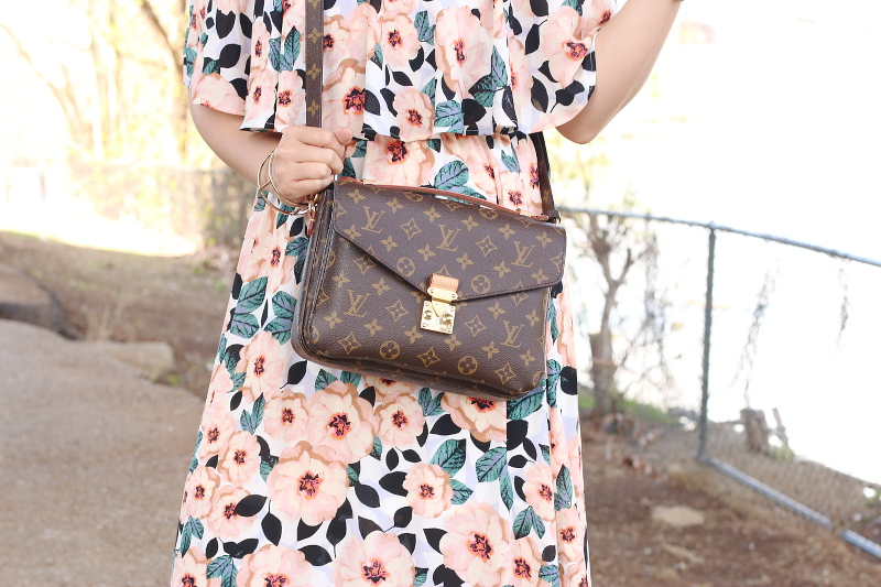 magnolia-print-off-shoulder-dress-louis-vuitton-bag-pochette-metis-3