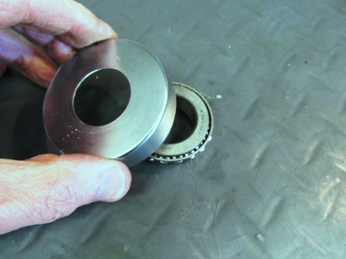 Chrome Cover Fits on Top of Top Tapered Roller Bearing