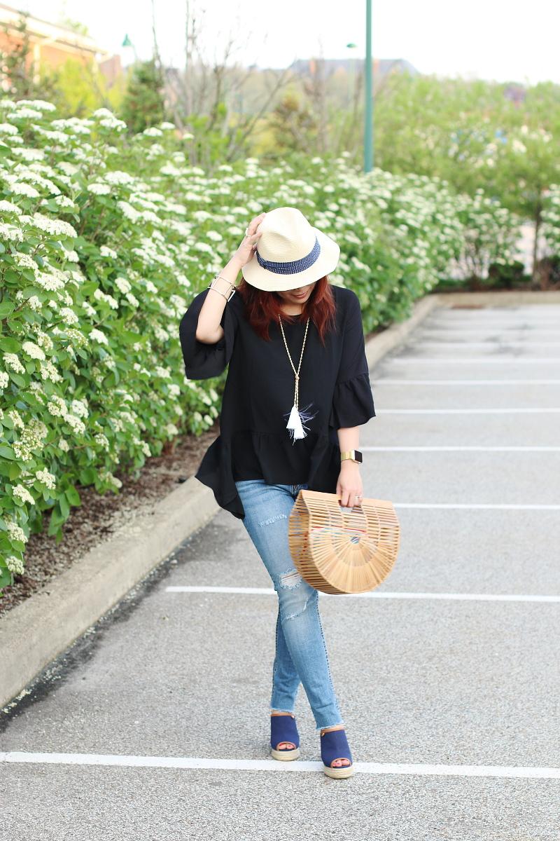 black-ruffle-spring-top-skinny-fringe-jeans-1