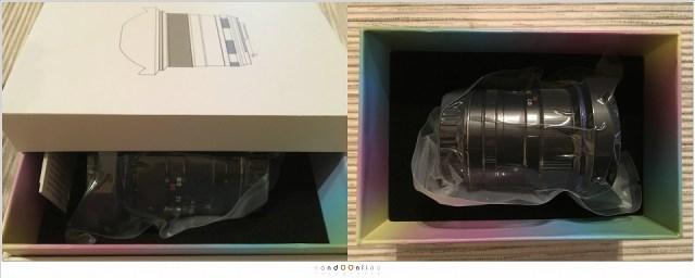 De Laowa D-dreamer 12mm f/2,8 zero-D in zijn verpakking