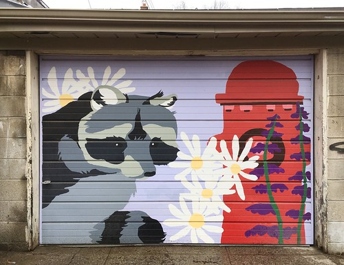 Garage door street art