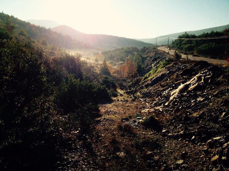 trailhead to mount olympus in euboea - hiking near athens