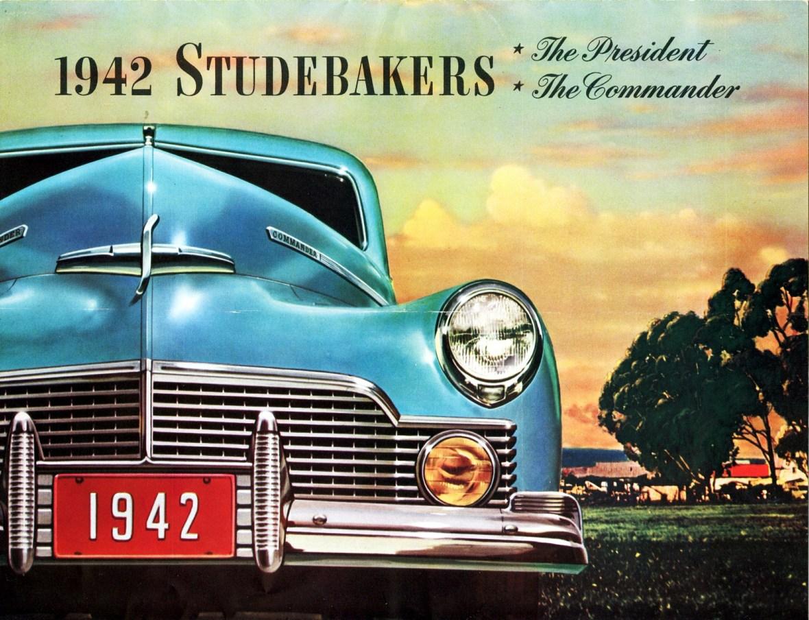 1942 Studebaker President and Commander Models brochure cover