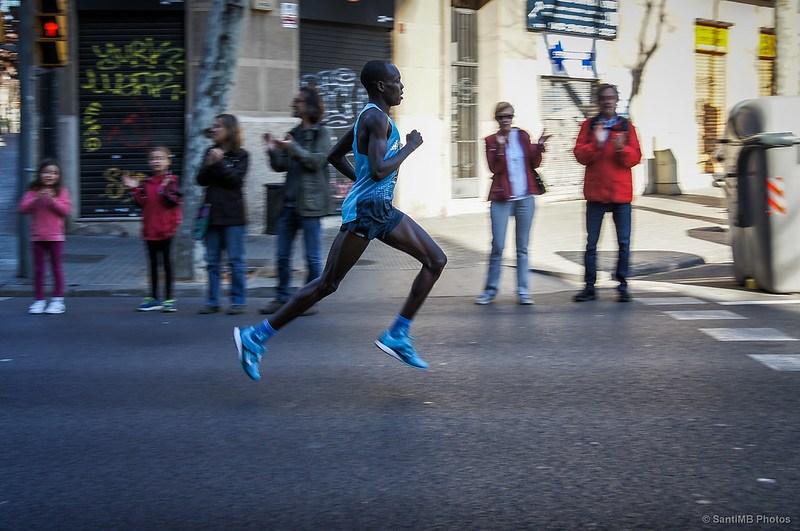 Barrido de atleta de maratón