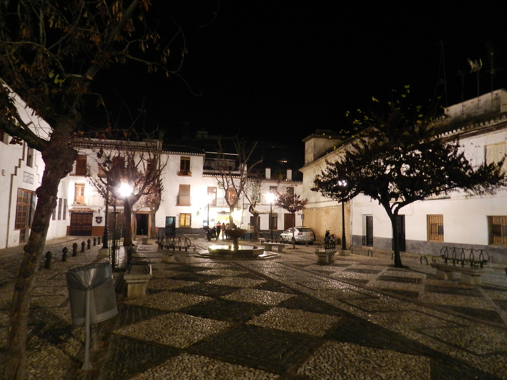 Sacromonte Granada de noche 04