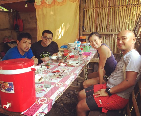 Post Race lunch with Erick, Majo and Aldean