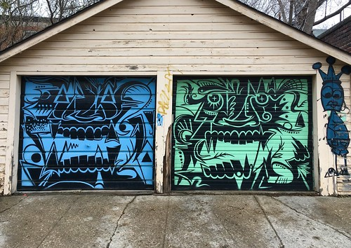 Garage door street art