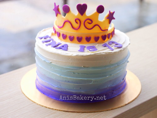 ombre princess cake
