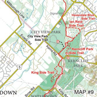 Kerncliff Bruce Trail Map