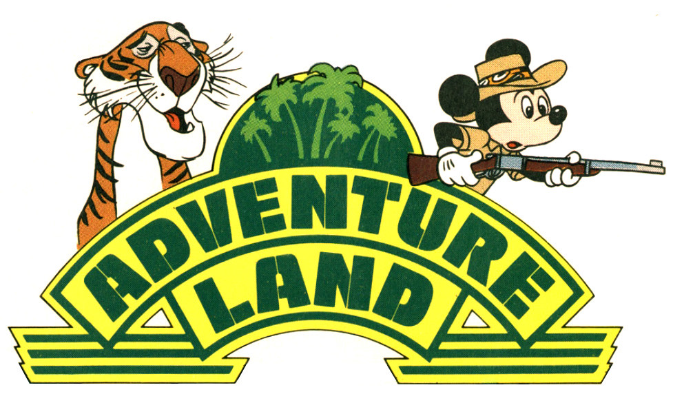 1989 Disneyland Logo Adventureland Via Vintage
