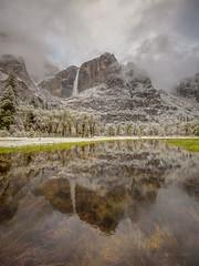 Yosemite Falls Storm Reflection