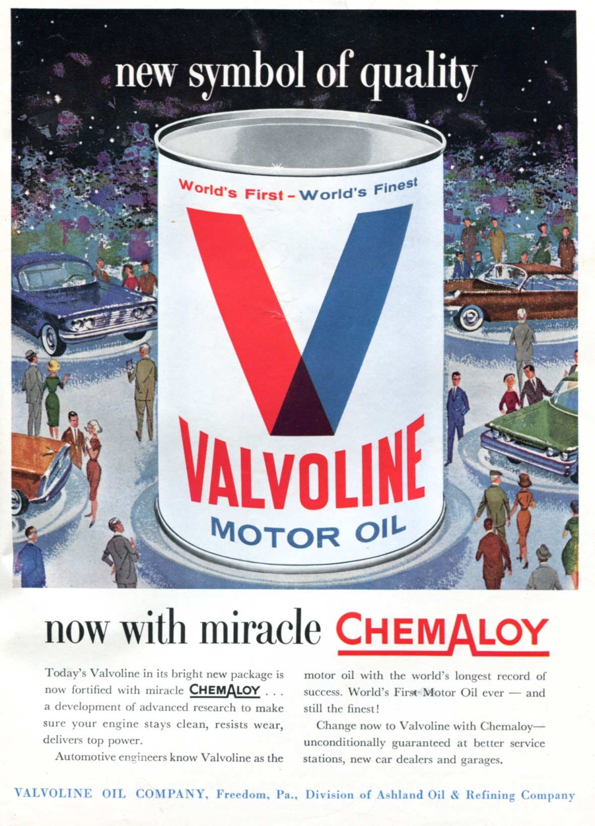 Valvoline - published in Sports Car Illustrated - November 1960