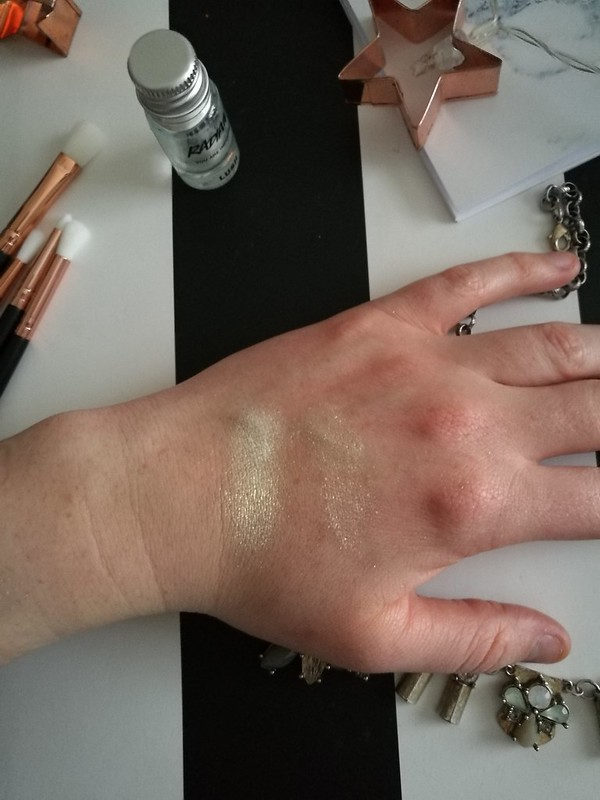 Lush Radiant Pigment Review, cruelty free highlighter