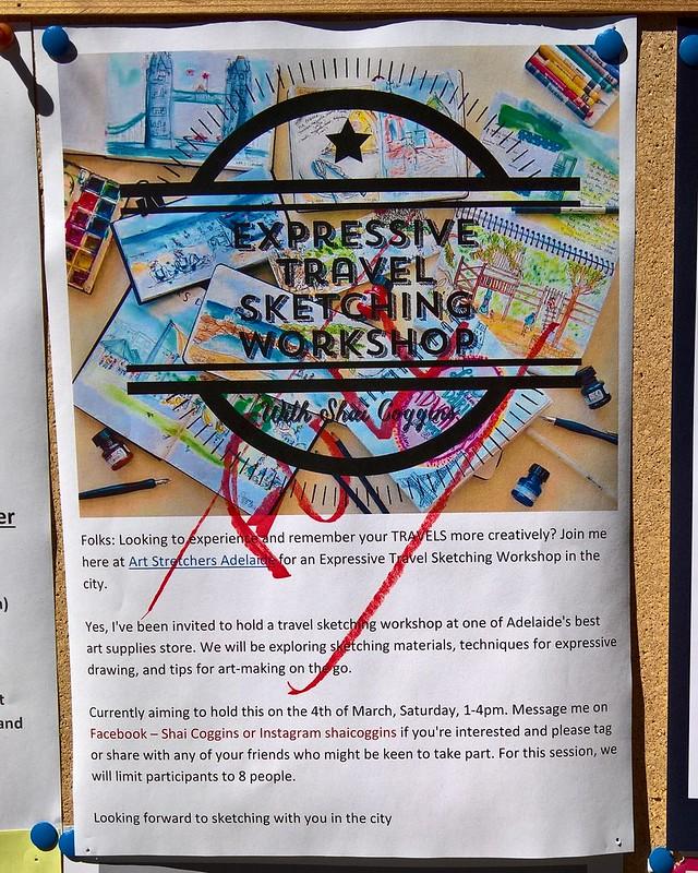 Expressive Travel Sketching Workshop - Adelaide