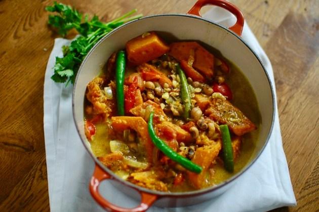Squash, Black Eyed Bean & Coconut Curry