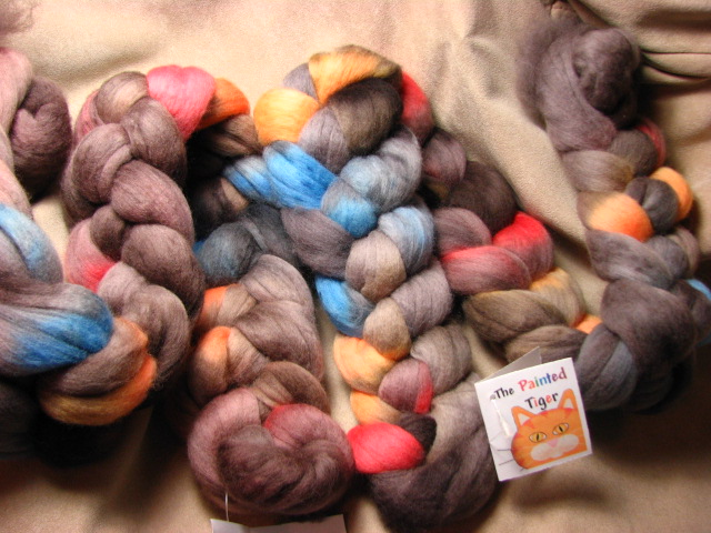 Chocolate w/ Sprinkles 19 Micron Merino Wool Combed Top- January 2017 Tiger Club