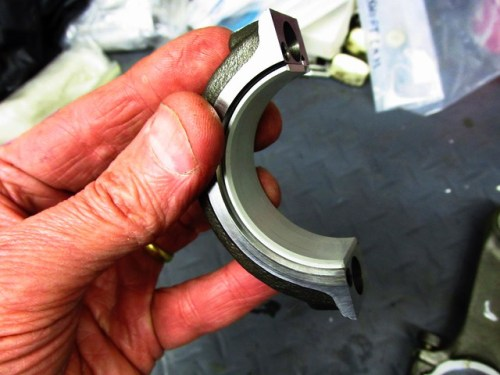 Bearing Half-Shell Installed in Rod Cap