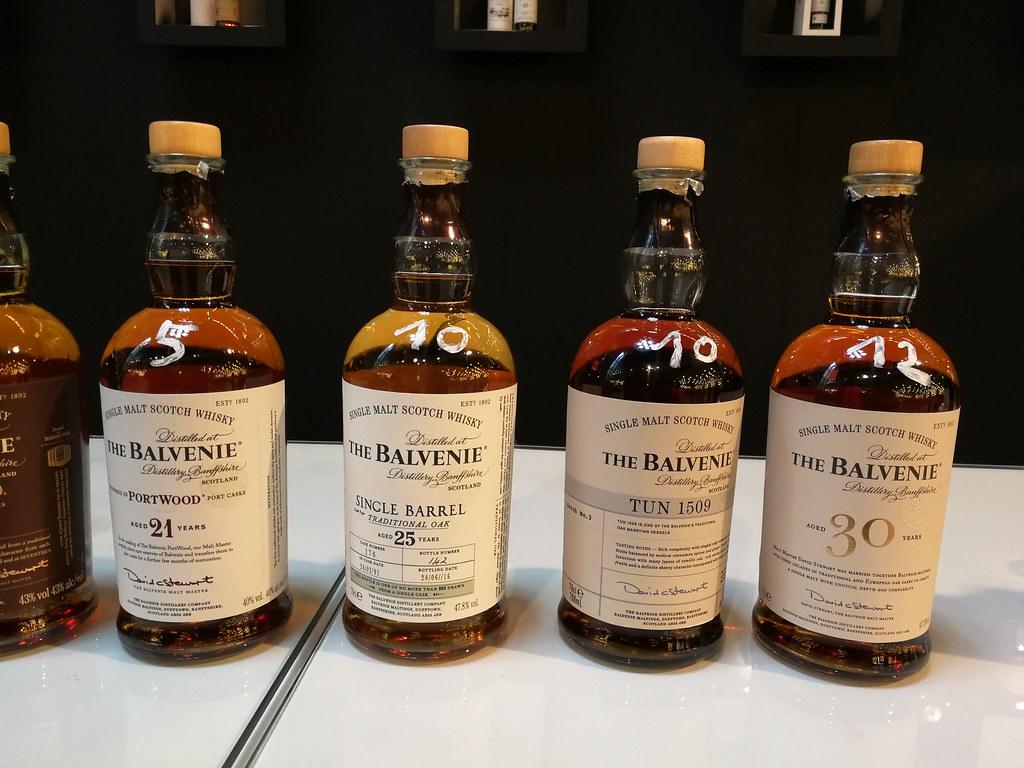Een deel van het lekkers dat we aan de stand te bieden hadden. O.A. heerlijke The Balvenie 30 Years Old en de 21 Years Old Portwood.
