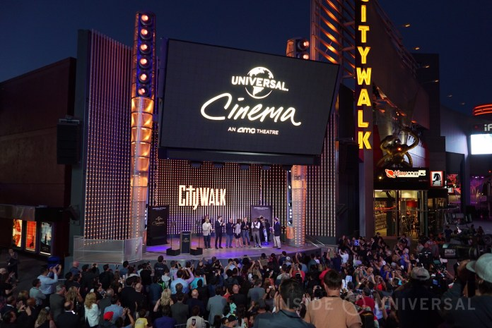 Universal Cinema opens with Steven Spielberg, Ron Meyer, Jason Blum and Jordan Peele at CityWalk Hollywood