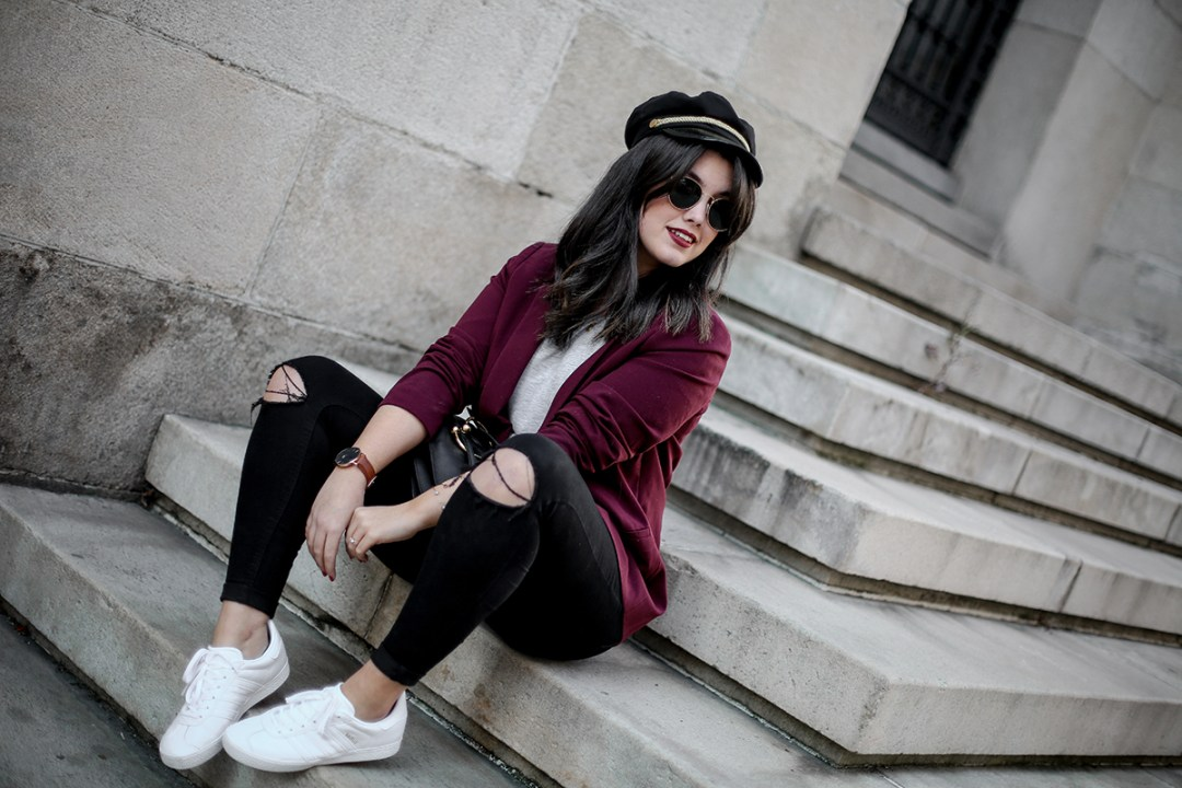 look-gazelle-sneakers-adidas-leztin-street-red-blazer-forever21-myblueberrynightsblog4