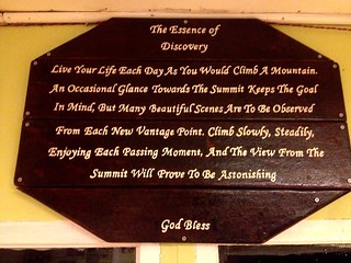 inscription in laban rata hut on mount kinabalu