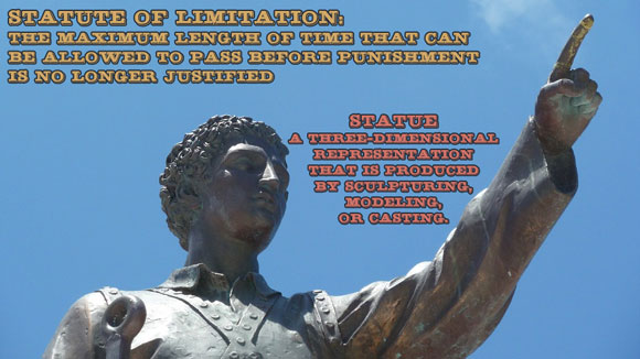 Grammar #AtoZChallenge Statue Statute of Limitation #Fiction #SFF