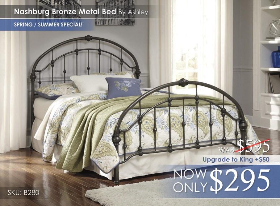 Nashburg Bronze Metal Bed B280-181
