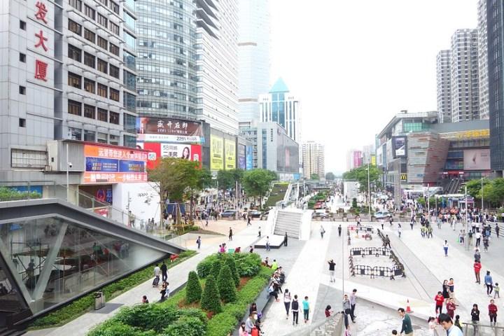 New Shenzhen pedestrian area