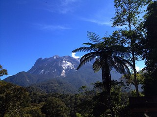 view of mount kinabalu on a sunny day