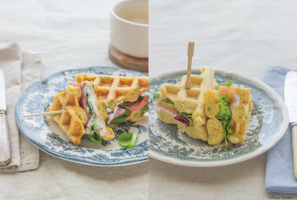 Waffles salati