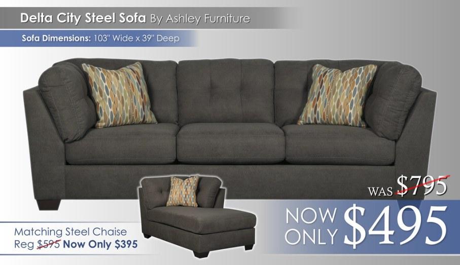 Delta City Steel Sofa 19700-38-SW