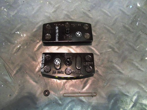 New Brake Pads (Top) Movable Pad, (Bottom) Fixed Pad