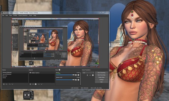 How to use OBS Studio to Record or Live Stream Second Life