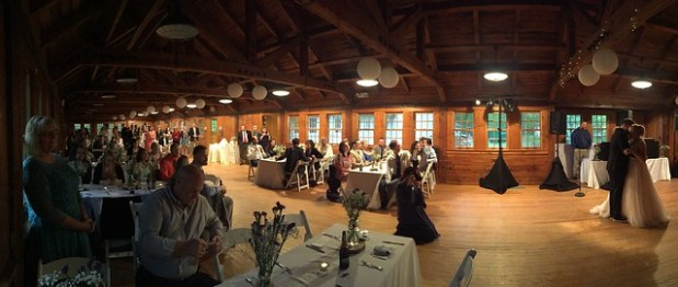Our first dance in Swift Creek Hall at Pocahontas State Park, central Virginia