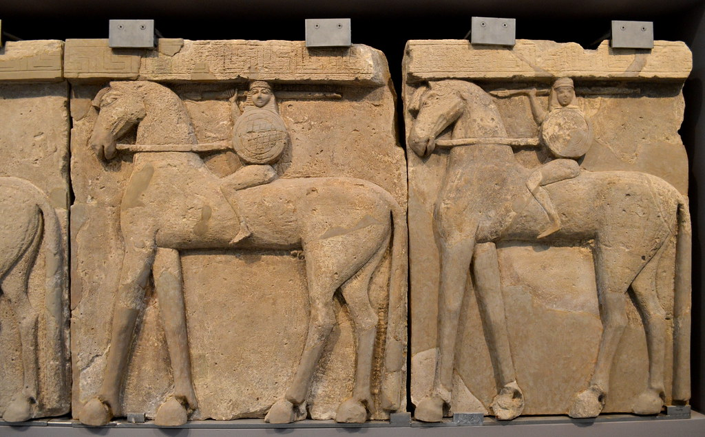 Prinias Building Temple A Frieze Of Horsemen Flickr