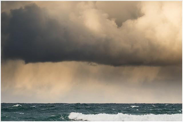 Dreigende wolkenluchten