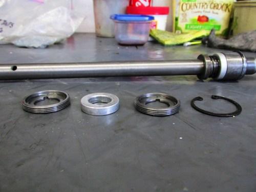 Damper Rod Parts I Removed (Not Shown is Upper Bumper)