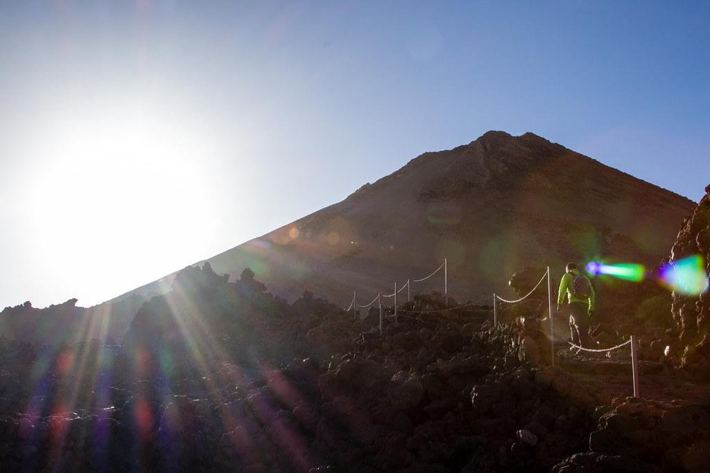 Nearing the summit of Mount Teide
