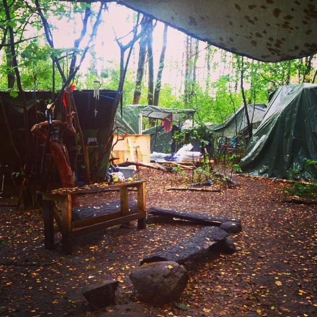 squatters i ekeberg skog camp