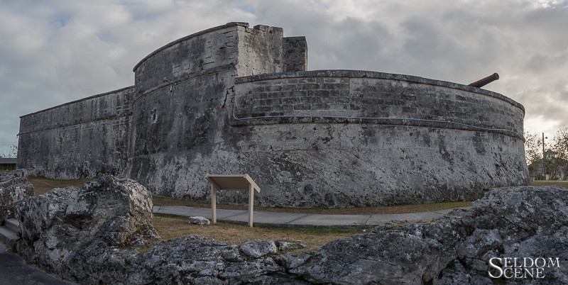 Fort Fincastle at dusk