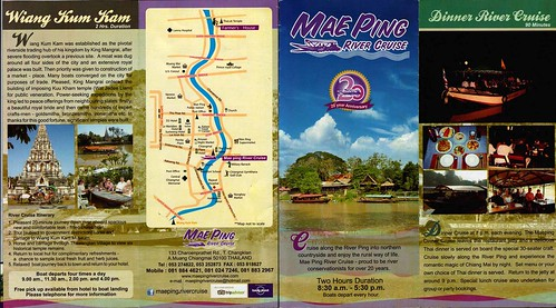 Brochure Mae Ping River Cruise Chiang Mai Thailand 1