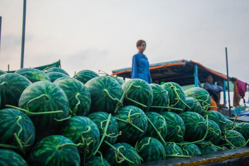 frugter på det lokale marked i Can Tho